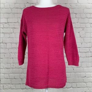 American Living Knit Sweater Pink Size Large